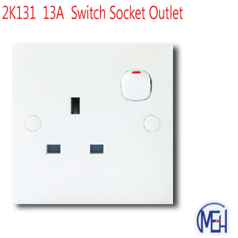 2K131  13A  Switch Socket Outlet