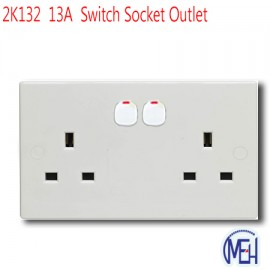 image of 2K132  13A  Switch Socket Outlet