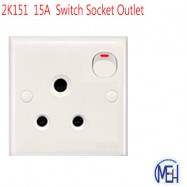 image of 2K151  15A  Switch Socket Outlet