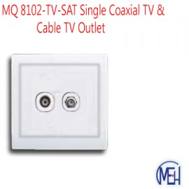 image of MQ 8102-TV-SAT Single Coaxial TV & Cable TV Outlet