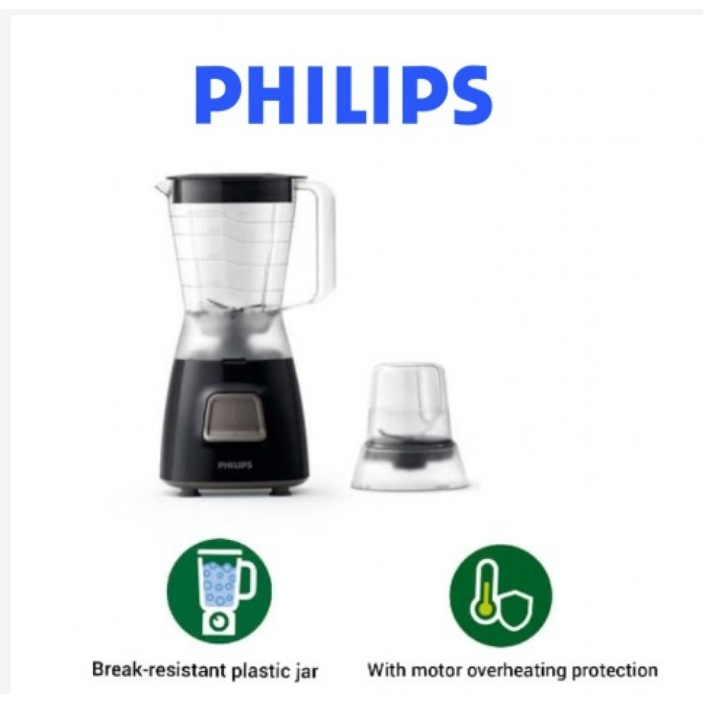Philips Blender with Mill - Black (350W) HR2056
