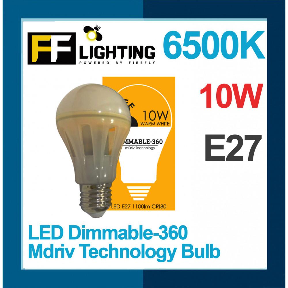 FF Lighting LED Dimmable-360 Mdriv Technology Bulb 10W E27 Warm White 3000K