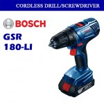 Bosch Cordless Drill/Driver GSR180-LI