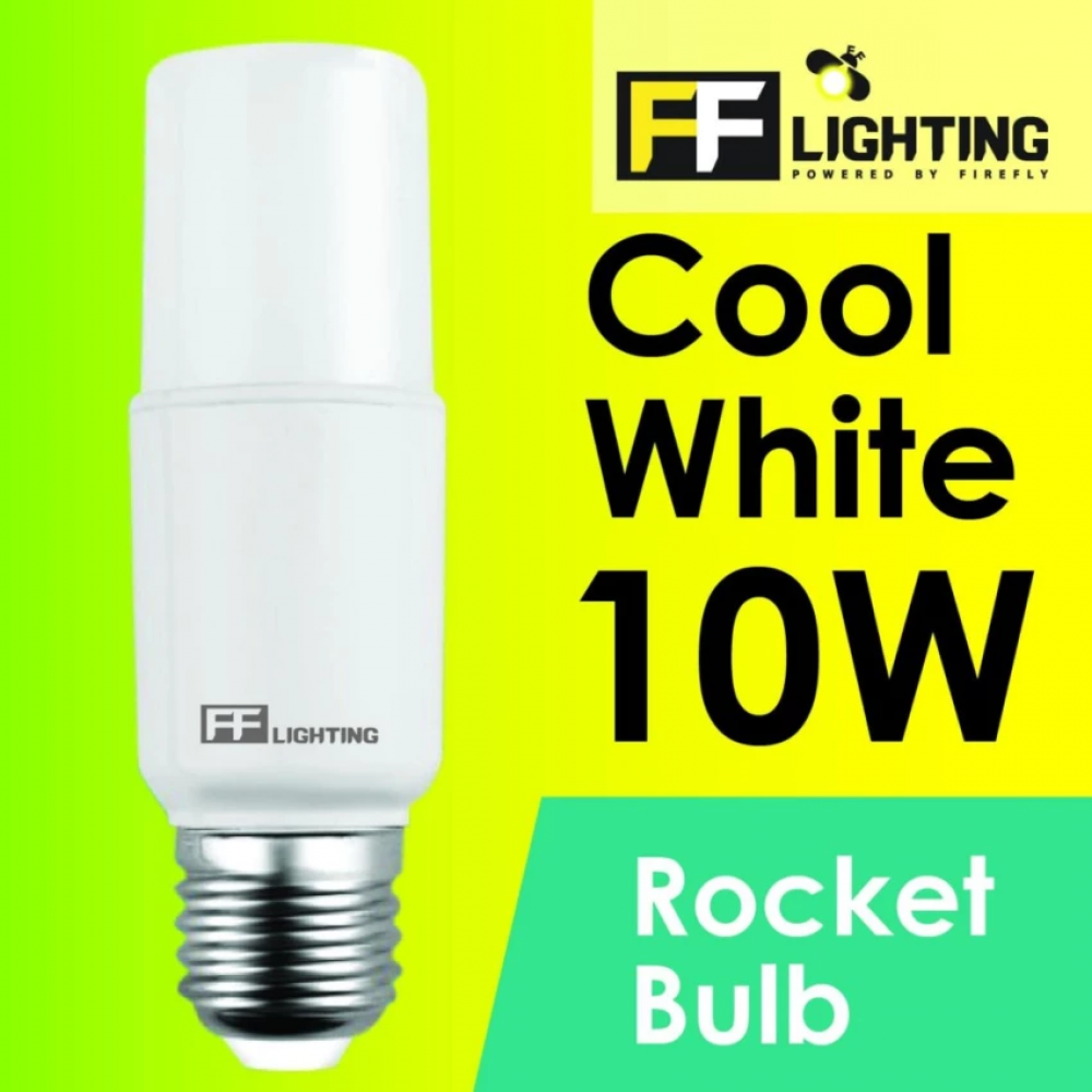 FF Lighting LED Rocket Bulb 10W E27 Cool White 4000K