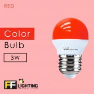 image of FF Lighting LED Color Bulb 3W E27 (3pcs)