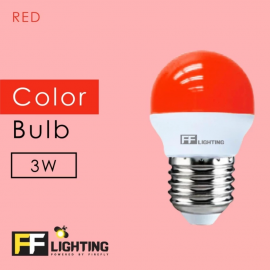 image of FF Lighting LED Color Bulb 3W E27 (3pcs)