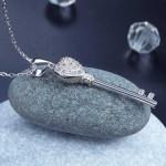 Love Key 925 Sterling Silver Cross Pendant Necklace XFN8029