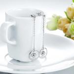 Solid 925 Sterling Silver Long Drop Dangle Love Earrings