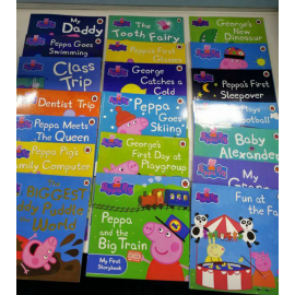 image of Peppa Pig Story Books (20 books + CD+ DVD)
