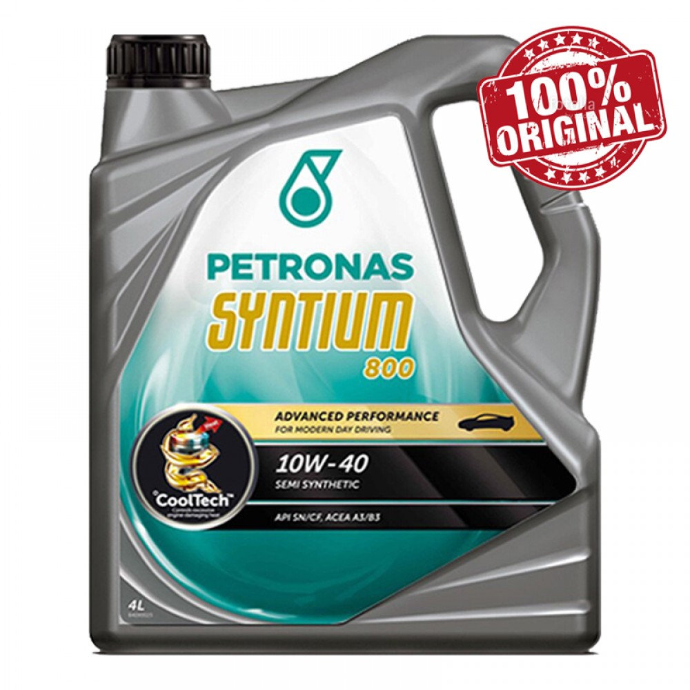 Petronas Syntium 800 10W-40 Semi Synthetic SN/CF Engine Oil 4L