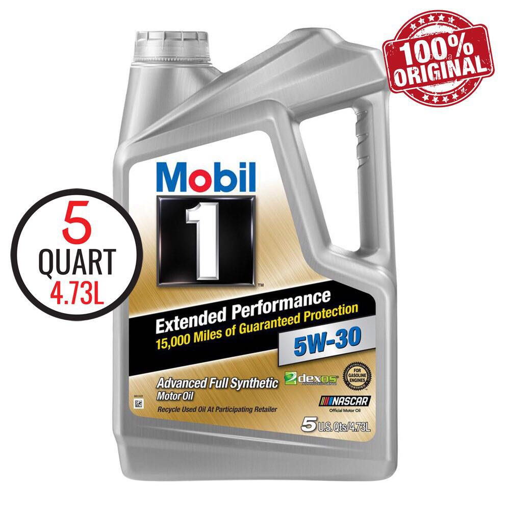 MOBIL 1 EP 5W30 Fully Synthetic Engine Oil SN 5QT/4.73L Dexos ( Made In USA )