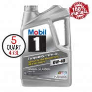 image of MOBIL 1 ADVANCED 0W40 Fully Synthetic Engine Oil SN 5QT/4.73L
