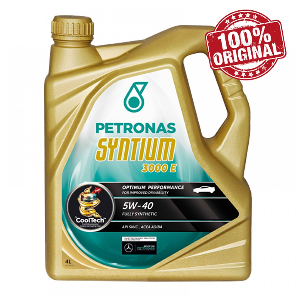 Petronas Syntium 3000 E 5W-40 SN/CF Fully Synthetic Engine Oil 4L