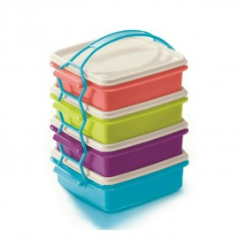 image of Tupperware Small Goody Box With Cariolier Box (4) 790m