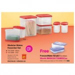 Tupperware Modular Mates Essential Set - Chili Set (FREE FreezerMate Small I (2pcs) 250ml)
