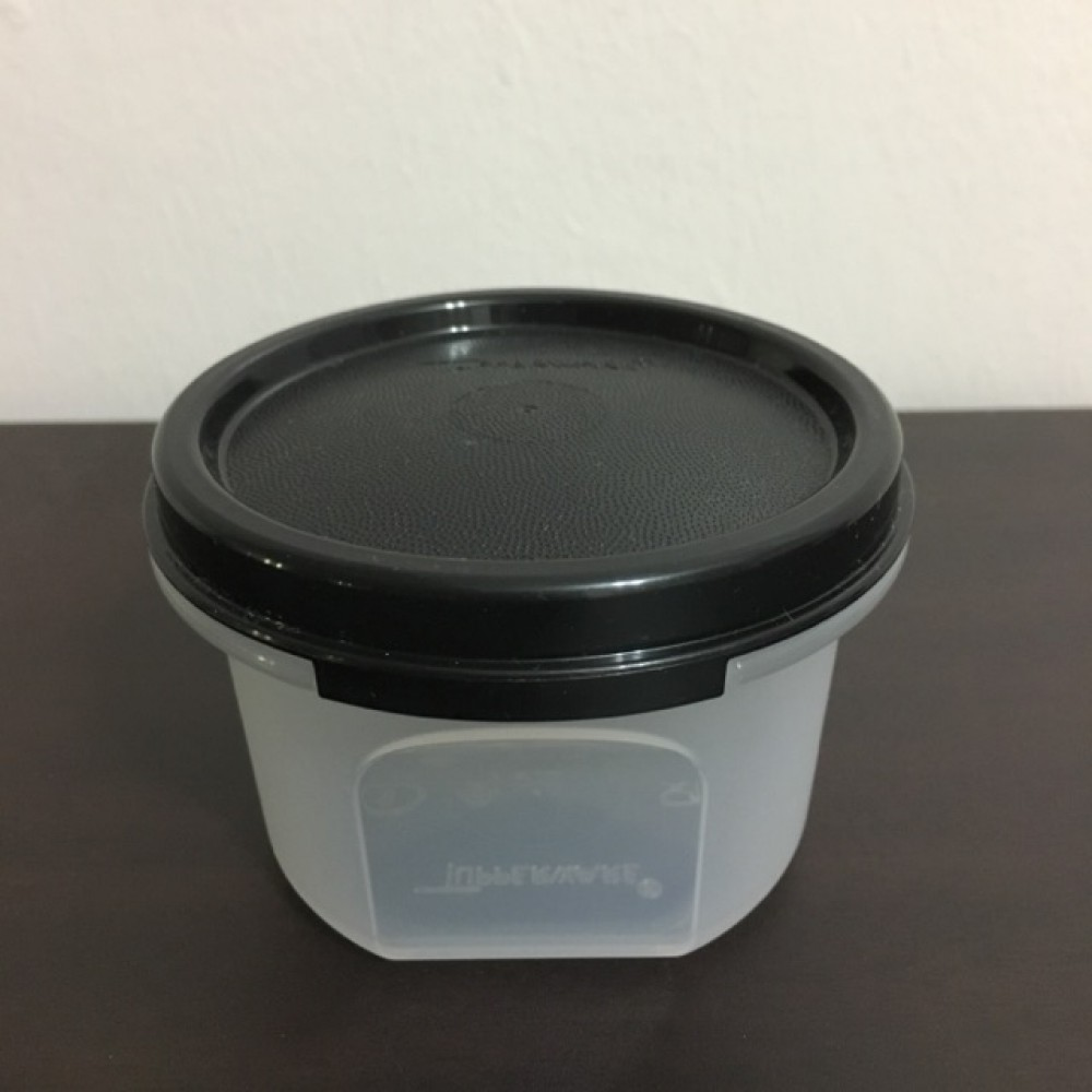 Tupperware Modular Mates Round I (1) 200ml - Black