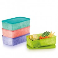 image of Tupperware Snowflake Double Square Round (Set Of 4) 1.3L