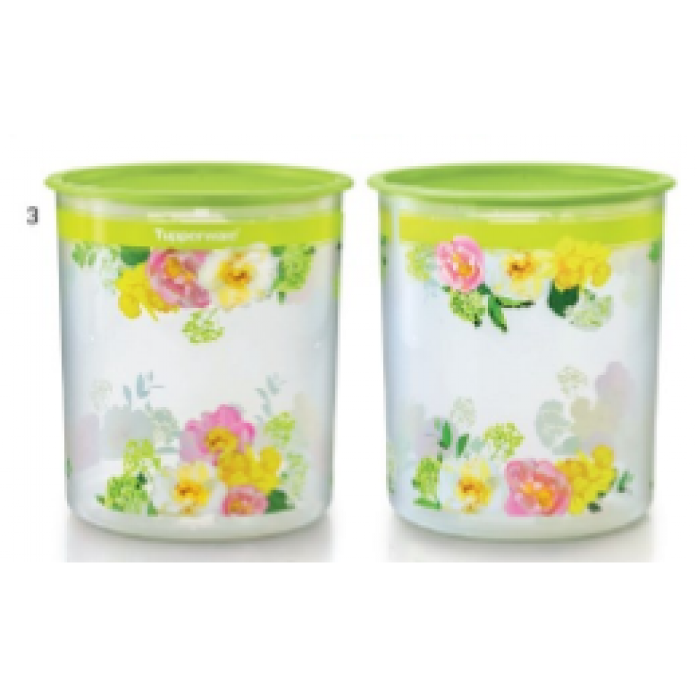 Tupperware Flora Raya One Touch Canister Large