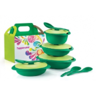 image of Tupperware Emerald Serving Set with Sambal Dish