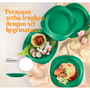 image of Tupperware Emerald Plates