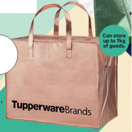 image of Tupperware The Great Big Bag Rose Gold