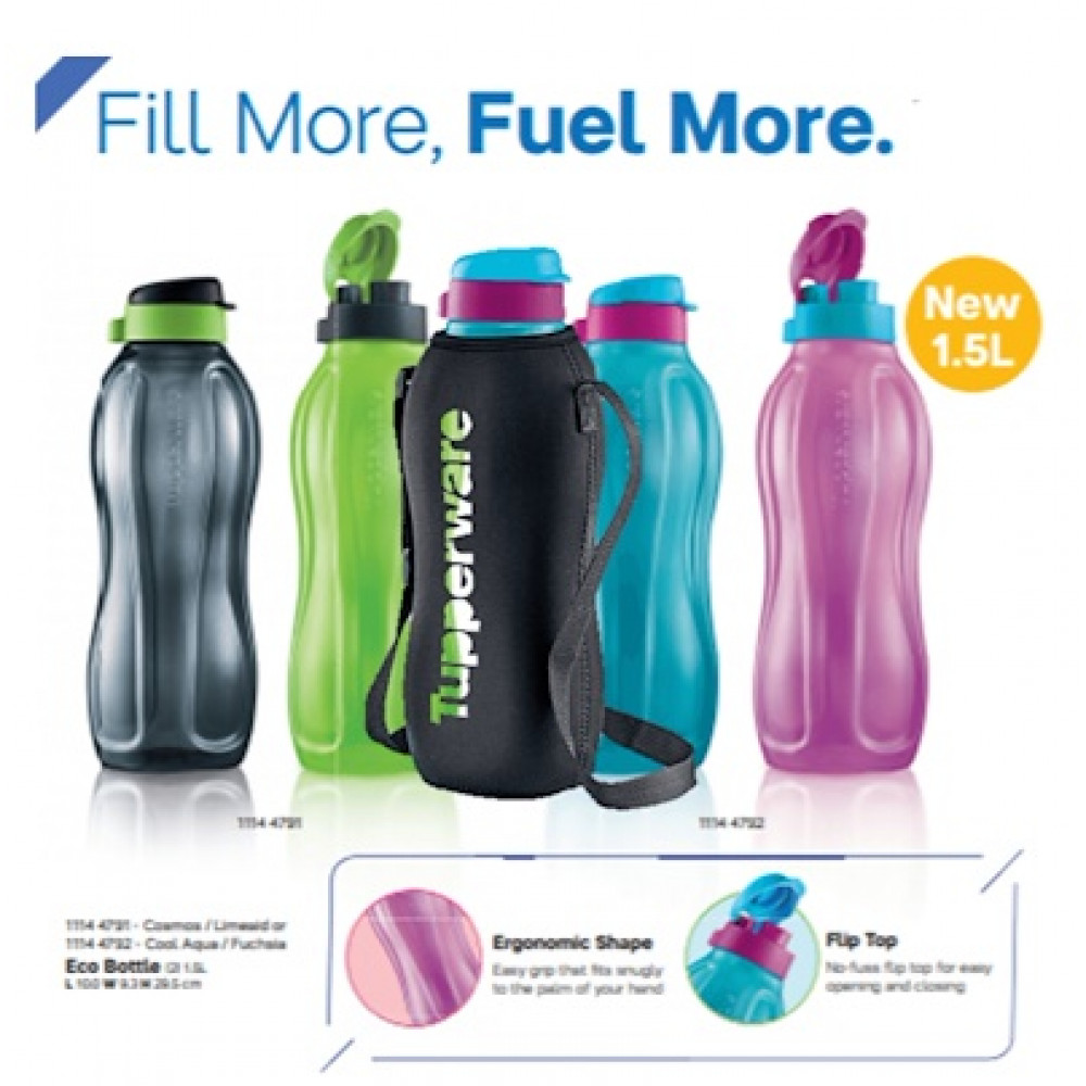 Tupperware New Eco Bottle 1.5L (2) without Pouch