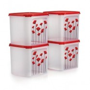 image of Tupperware RED POPPY GARDEN SET (4)