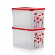 image of Tupperware Red Poppy Modular Mates (2)