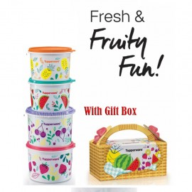 image of TUPPERWARE Fruity Canister Set Fresh & Fruity Fun