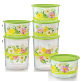 image of Tupperware Flora Raya One Touch Set