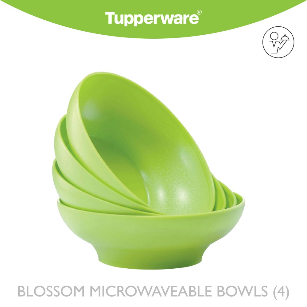 Tupperware Blossom Microwaveable Bowls (4)