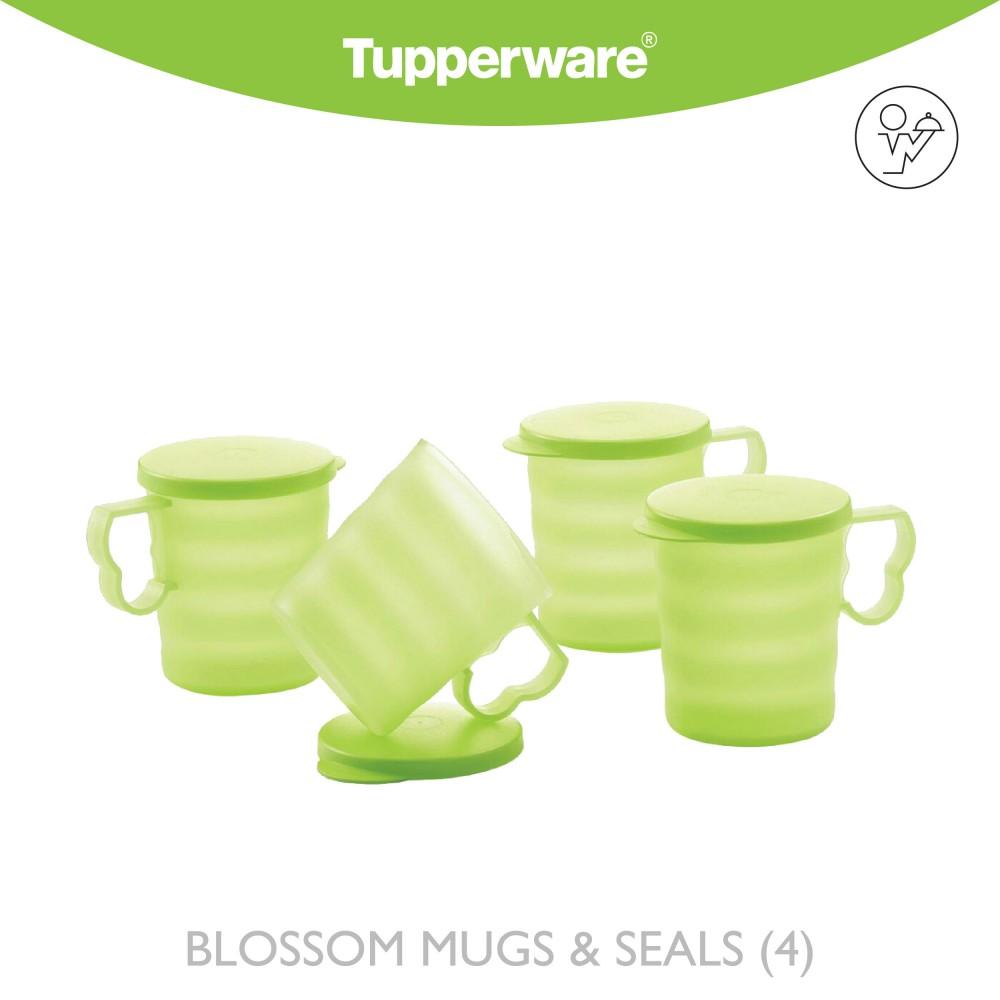 Tupperware Blossom Mugs & Seals (4)