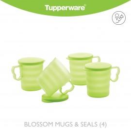 image of Tupperware Blossom Mugs & Seals (4)