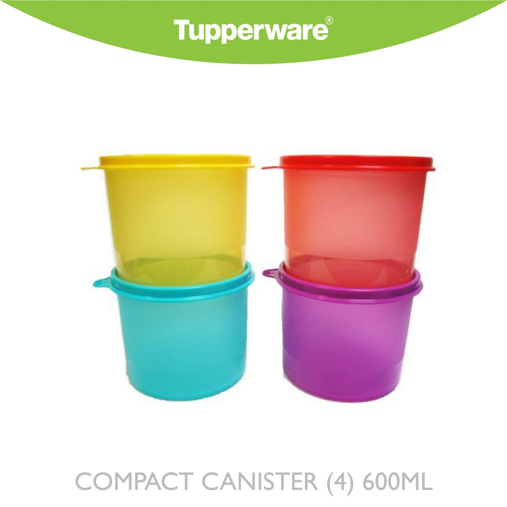 Tupperware Compact Canister (4) 600ML