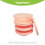 Tupperware Mini Sauce Dish (1) Peach