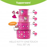 image of Tupperware Hello Kitty One Touch Full Set (4)