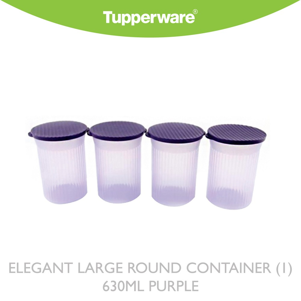 Tupperware Elegant large round container (1) 630ml Purple