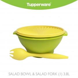 image of Tupperware Salad Bowl & Salad Fork (1) 3.8L