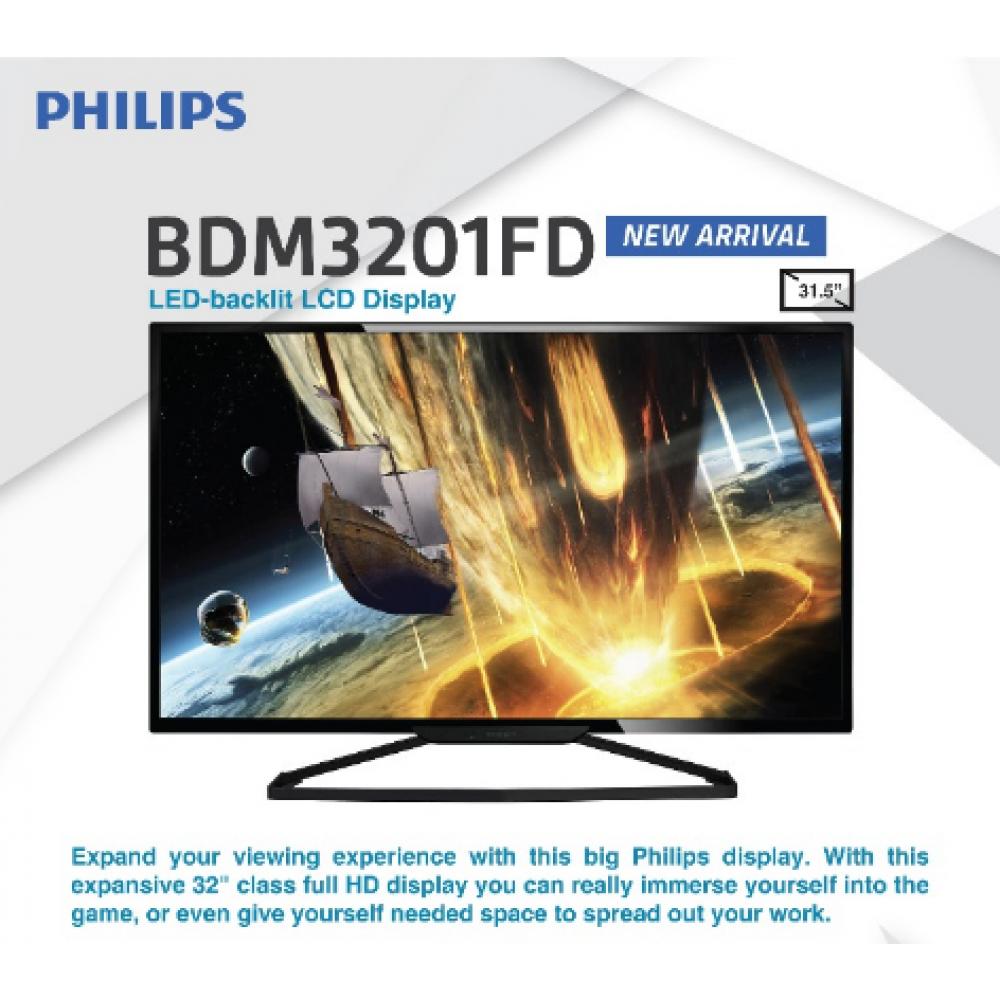 "Philips BDM3201FD 31.5"" Full HD Premium Model Monitor with LED-backlist LCD Display"