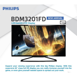 "image of Philips BDM3201FD 31.5"" Full HD Premium Model Monitor with LED-backlist LCD Display"