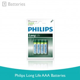 image of Philips Long Life AAA Batteries