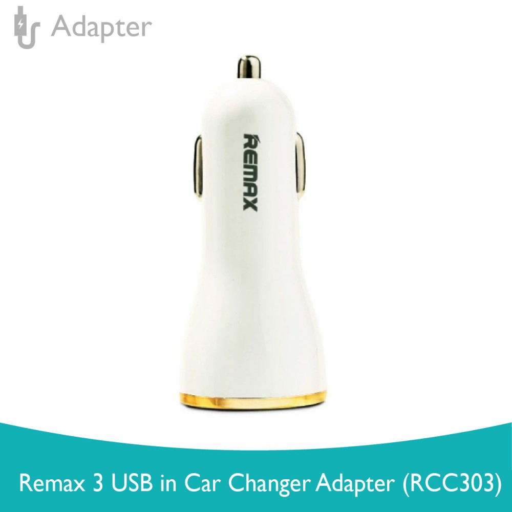 Remax 3 USB In Car Changer Adapter (RCC303)