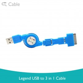 image of Legend USB 3 in 1 Cable