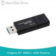 image of Kingston DT100G3/16GB Pendrive (Black)