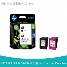 image of HP CR311AA 61(BLK)+61(CLR) COMBO PACK INK