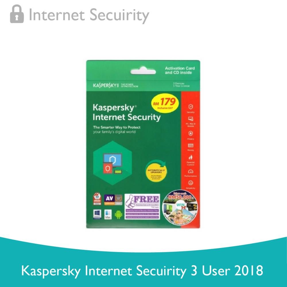 Kaspersky Internet Security 3 User 2018