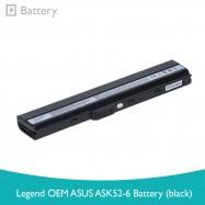 image of Legend OEM Asus ASK52-6 Battery (Black)