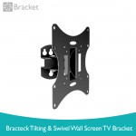 Brateck Tilting and Swivel Wall Screen TV Bracket LCD-501A