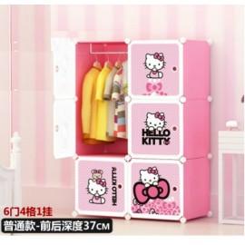image of 6-Cubes Cabinet Hello Kitty DIY Wardrobe