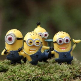 image of 4in1 Minion Cake Topper - Free Sticker